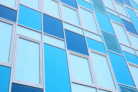 limpid: Colorful modern office building front as background