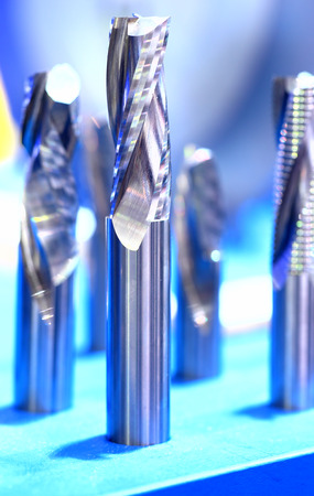 end mill: Samples of end mill tool, close up view