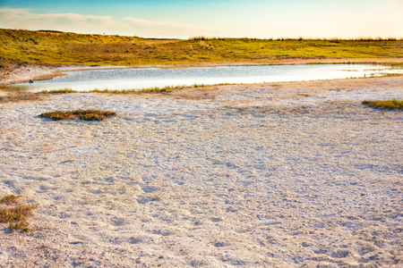 soil erosion: Steppe saline soils of Kazakhstan