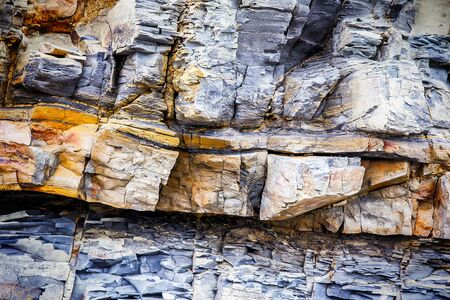 Fragment of sedimentary rock as background texture Stock Photo