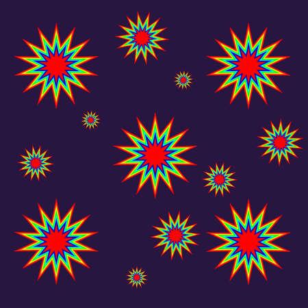 Repeat Stars Pattern Stock Vector - 15737418