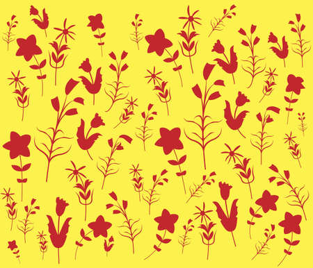 florescence: Abstract Floral Pattern. Repeat Pattern Illustration