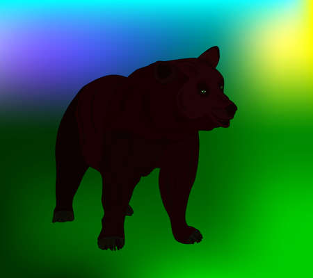 bear. Transparency and art brushes used. Illustration