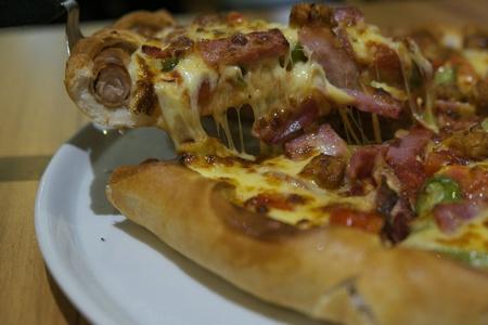 jamon y queso: Pizza de jam�n queso