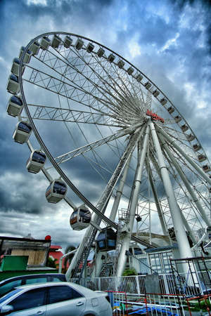 cloudy day: Ferris wheel on cloudy day