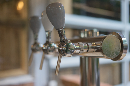 beer dispenser ready to drink served in hotel, restaurant pub, bar, party or meeting Stock Photo