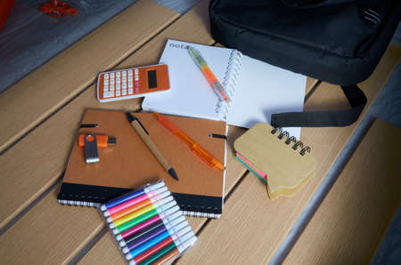 Utensils for the return to school, notebooks, pens and markers