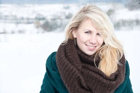 Portret im Schnee Stockfoto