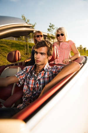 friends driving in car Stock Photo - 17718342