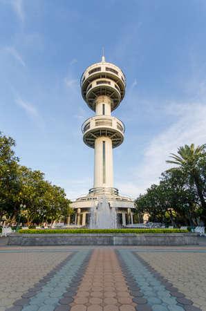 fountainhead: Tower in Supanburi, Thailand Editorial