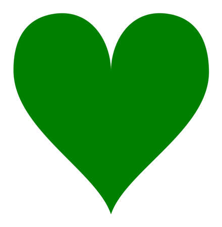 green heart: Simple green heart isolated over a white background.