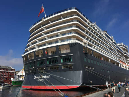 18th: AUGUST, 18th 2016 - STAVANGER, NORWAY: The cruise ship Queen Elizabeth in Stavanger in Rogaland county, Norway. Editorial