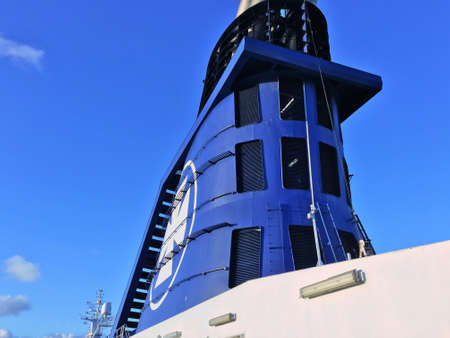 ms: The DFDS ship MS Crown Seaways funnel.