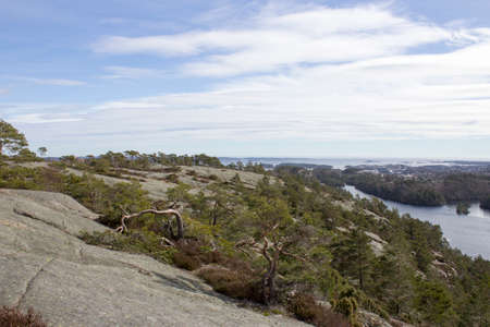 kristiansand: View over the city of Kristiansand in the southern part of Norway. Stock Photo