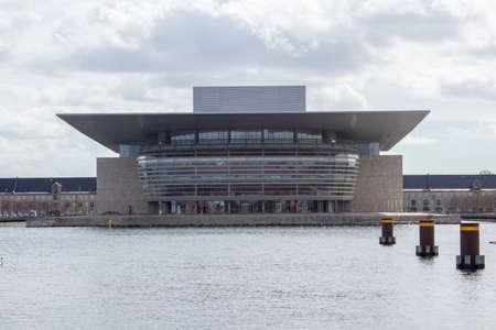 April 25th, 2017 - Copenhagen, Denmark: The opera house in Copenhagen, the capital of Denmark. Editorial