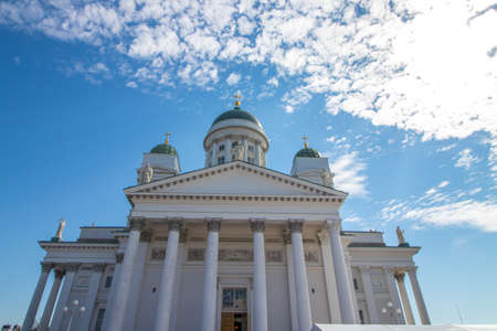 The Helsinki Cathedral in Helsinki, the capital of Finland.