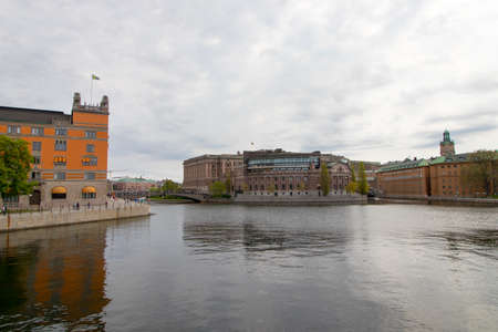 The Swedish Parliament Building(Riksdagshuset) in Stockholm, the capital of Sweden.