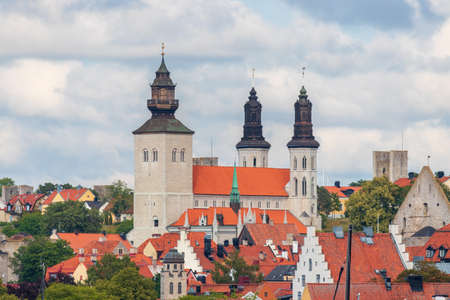 The beautiful Visby Cathedral on the island of Gotland, Sweden.