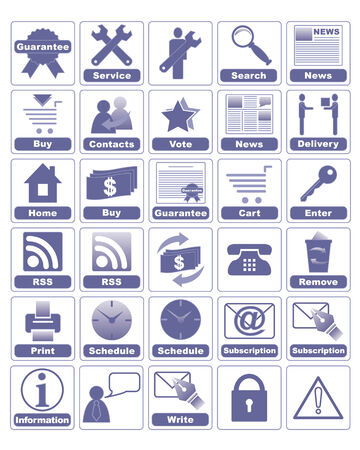 accessible: All icons organized in groups for usability. Illustration