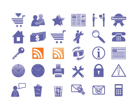 All icons organized in groups for usability. Illustration