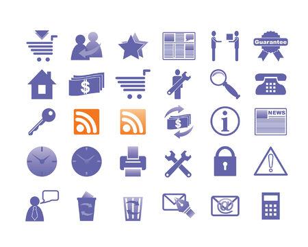 Alle pictogrammen georganiseerd in groepen voor de bruikbaarheid.