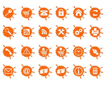 Alle Symbole, die in Gruppen für Benutzerfreundlichkeit organisiert sind. Standard-Bild - 4930434