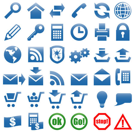 Vector art in format. All icons organized in layers for usability. 36 objects. Stock Vector - 5511876