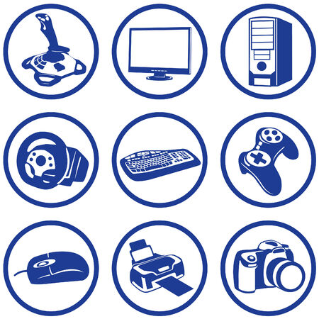 Vector art in format. All icons organized in layers for usability. 9 objects. Stock Vector - 5614240