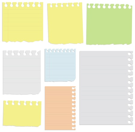 notebook page: All sheets organized in layers for usability.  Illustration