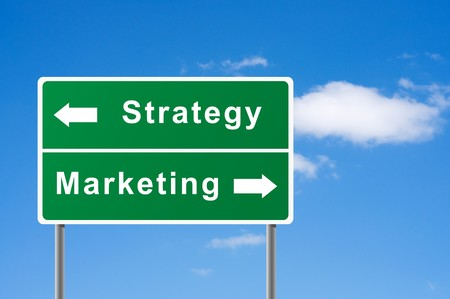 Sign strategy marketing sky background.