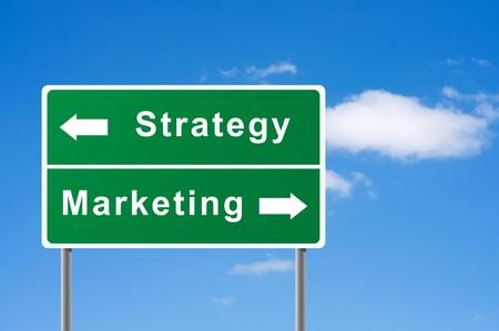 Sign strategy marketing sky background.