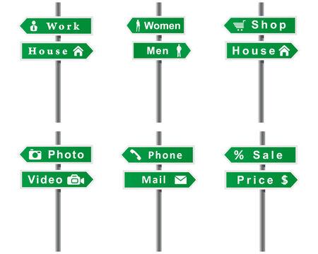 Arrows, signs, set. Vector format. Stock Vector - 8104484