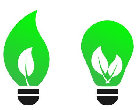 Green bulb leaf concept. Stock Vector - 8596340