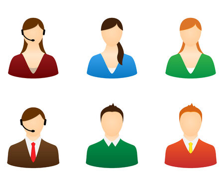 Set icons people for design. Vector