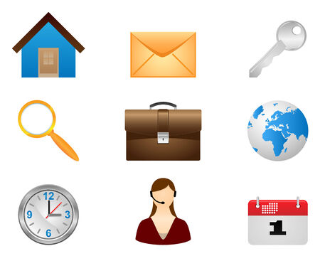 Set vector icons.Signs organized in layers for usability. Stock Vector - 10142047
