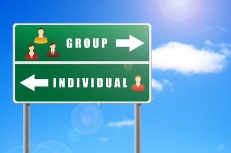 individual: Billboard icons people text group individual.