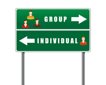 Traffic sign icons people text group individual. Stock Vector - 8886673