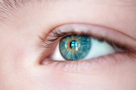 Eye with window reflection close up. Stock Photo - 9407247