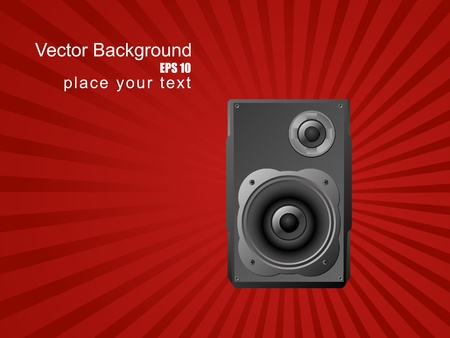 Musical background with speaker.