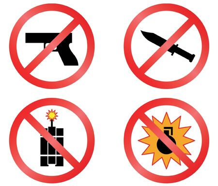 explosion hazard: Prohibiting signs