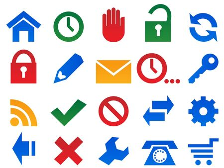 pictogrammes: Set icons for web site.