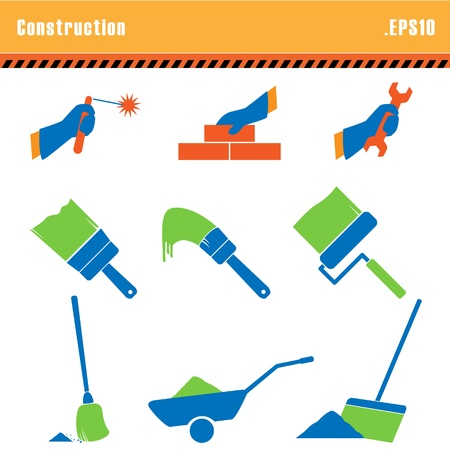broom: Set of icons construction