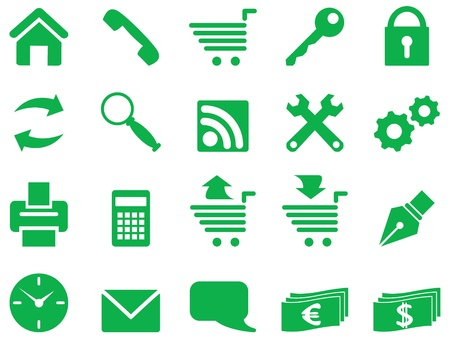 Set of simple icons for decoration and design. Illustration