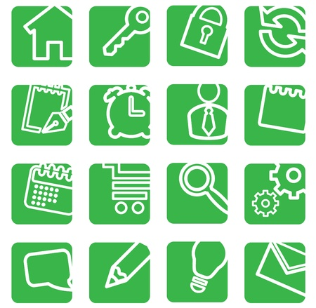 Set of simple icons for decoration. Vector