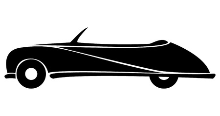 Car silhouette on white background  Vector