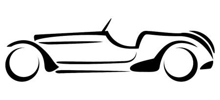Car silhouette on white background  Illustration
