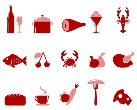 Food icon set  Illustration
