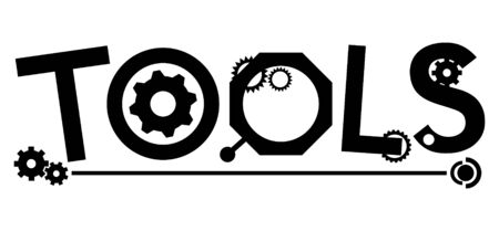 Word tools with gears Illustration