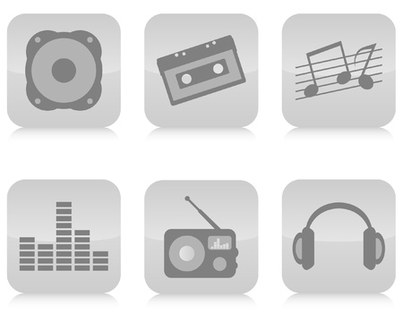 Music icons set vector. Vector