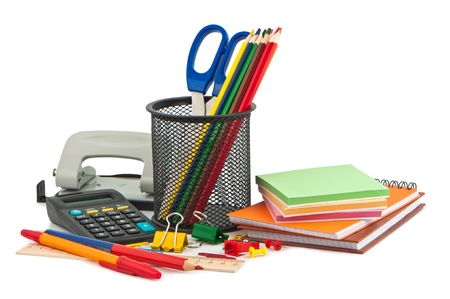 stationery items: Set of stationery items.